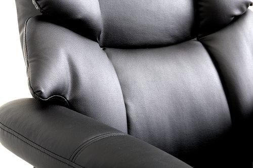 Fotelja s tabureom HASSELAGER crna