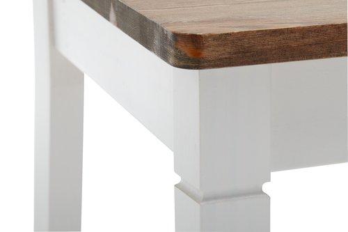 Ruokapöydän tuoli RYSLINGE valk./ruskea