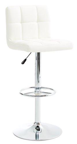 Barski stol HAMMEL bela/krom