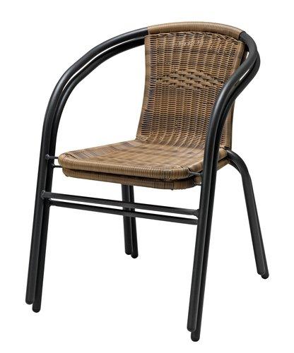 Καρέκλα στοιβαζ. GRENAA φυσικό