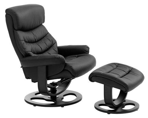 Кресло с табуретка GANTRUP черно