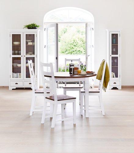 Blagov. stolica RYSLINGE bijela/smeđa