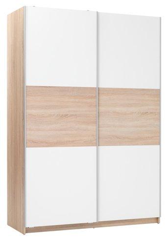 Ormar SATTRUP 151x219 bijela/hrast