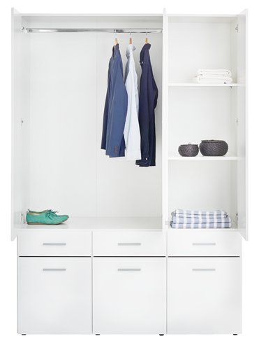 Wardrobe HELSINGE 144x209 highglosswhite