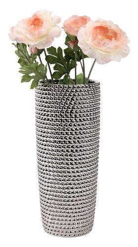 Vaza URBAN Ø13xV31cm srebrna
