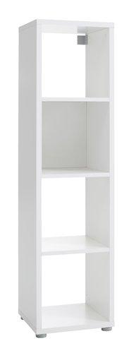 Room divider HALDAGER 4 shlv. white