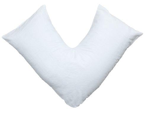 Pillow case f/v-shaped pillow white
