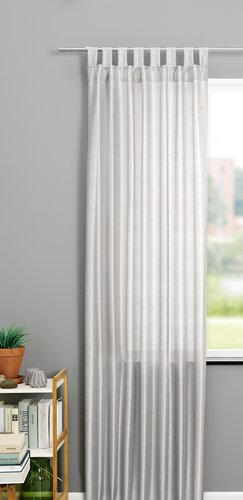 Curtain LUPIN 1x140x300 silk-look silver