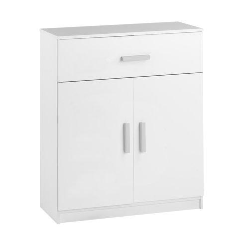 Komoda KABDRUP 1 szufl. 2 drzwi biały