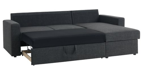 Sofa bed chaiselongue MARIAGER grey