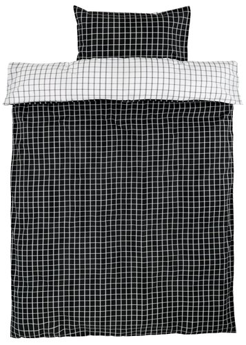 Dekbedovertrek KARIN 140x200 wit/zwart