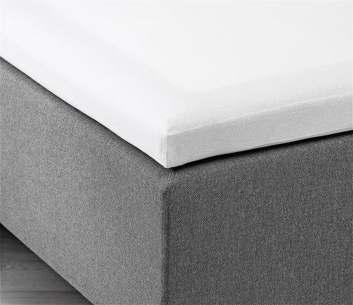 Kuvertlagen 90x200x6-10cm hvid