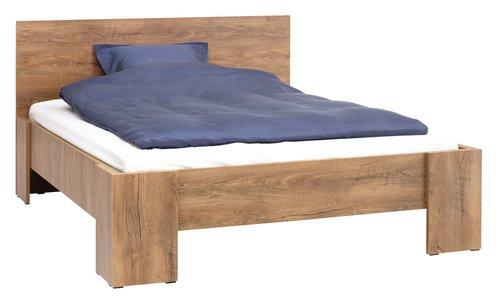 Estructura cama VEDDE 150x190 roble salv
