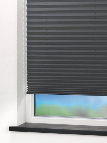 Plisségardin SALTHOLM 90x210 grå
