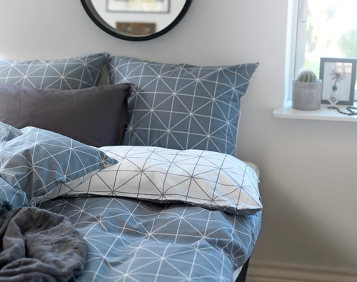 Set posteljine ATLA 140x220 cm siva