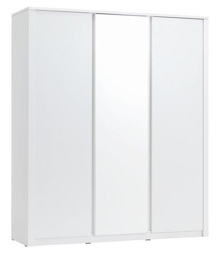 Skap VEDDE 166x197 m/speil hvit