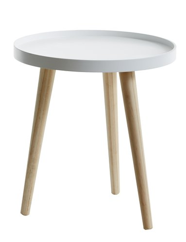 End table BAKKEBJERG D40 white/natural