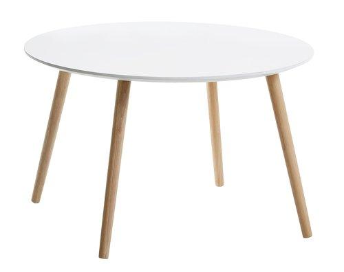 Sohvapöytä GALTEN Ø75 valk.