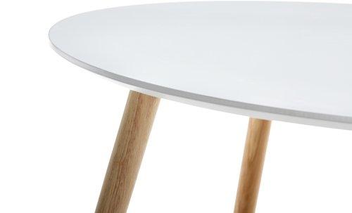 Konferenční stolek GALTEN Ø75 bílá