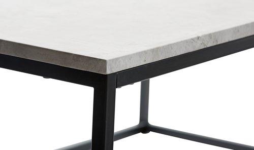 Salontafel Van Beton : Salontafel dokkedal 75x115 grijs zwart jysk