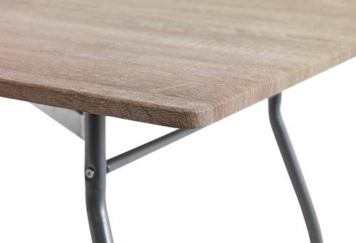 Blag. stol THYHOLM D120 cm metal/hrast