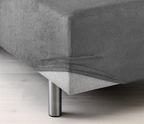 Stretchfrottélakan 105x200x40cm grå