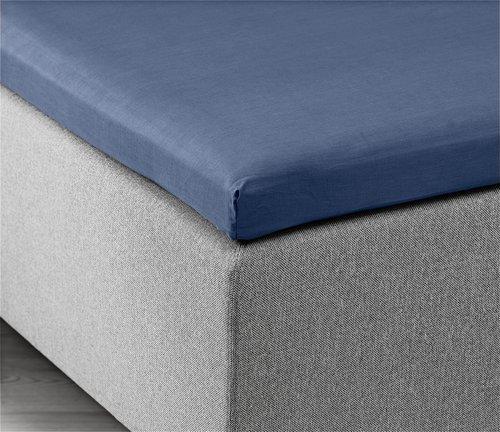 Hoeslaken topper 90x200x6-10 blauw