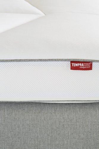 Topmatras 90x210 TEMPRAKON licht grijs