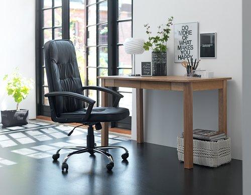 Крісло офісне SKODSBORG шт.шкіра чорний
