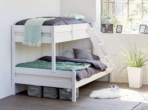 Ліжко 2-ярусне VESTERVIG 80/120х200 біл.