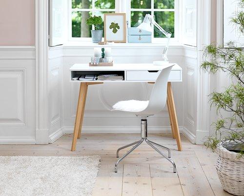 Ruokapöydän tuoli VILDSUND valk./kromi