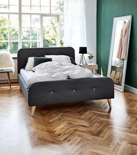 Ram kreveta KONGSBERG 160x200cm siva