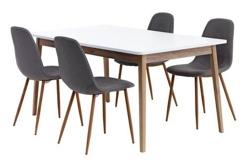Miza GAMMELGAB D160/200+4 stoli JONSTRUP