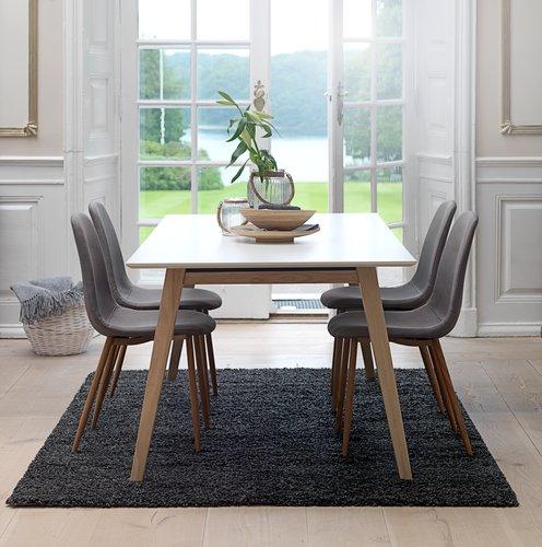 Blagovaonski stol TARUP 95x195/285 bijel