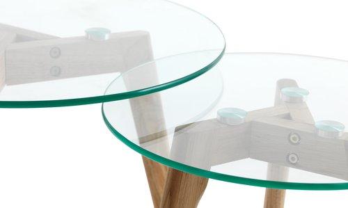 Komplet mizic ORDRUP Ø50/40 cm steklo