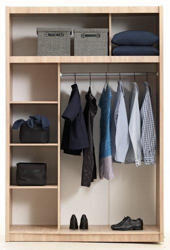 Wardrobe GENTOFTE 144x220 cm oak