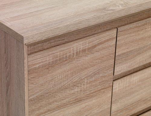 Sideboard HALLUND 2 door 3 drw oak