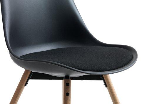 Jídelní židle KASTRUP černá/dub