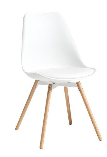 Krzesło KASTRUP biały/dąb