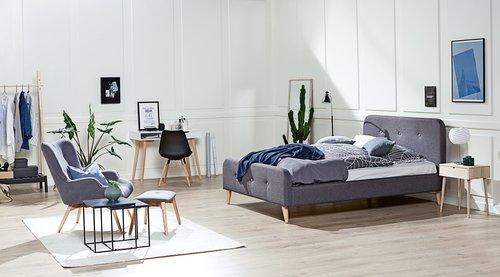 Sänkykehikko KONGSBERG 180x200 harmaa