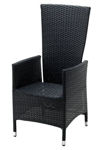 Chaise inclinable SKIVE noir