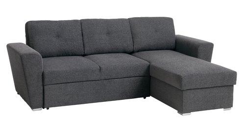 Canapea extensibilă VEJLBY gri închis