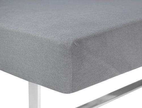 Frot. čaršav 140/150×200×40cm siva