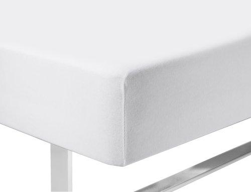 Ζέρσεϊ σεντόνι 140/150x200x40cm λευκό