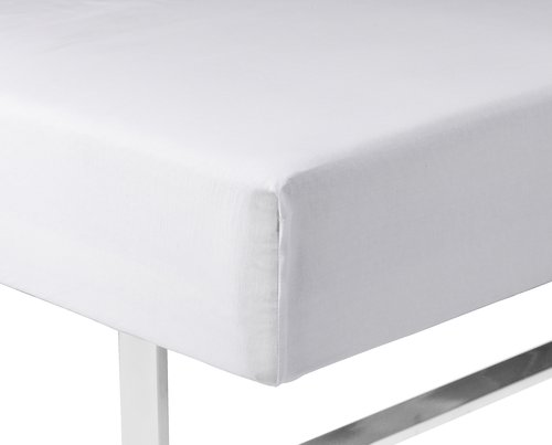 Sateen Fitted sheet KING white KRONBORG
