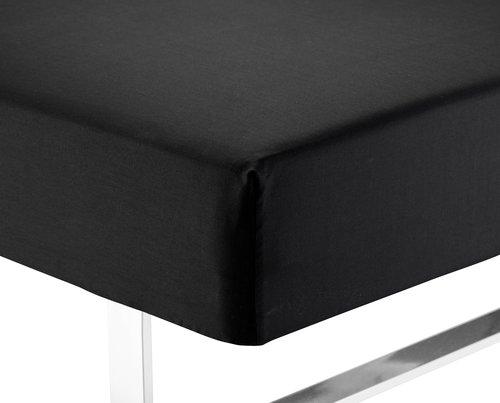 Hoeslaken 140x200x35 zwart