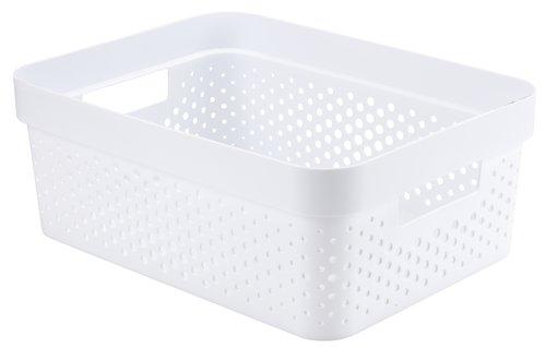 Korb INFINITY 11L Plastik weiß