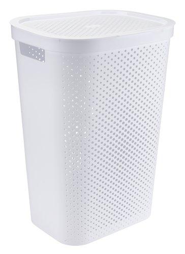 Кош за пране INFINITY от пластмаса бял