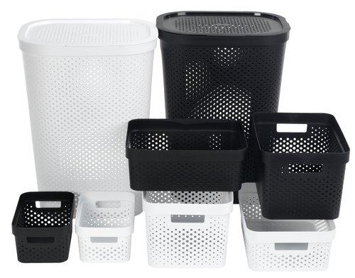 Tvättkorg INFINITY plast vit