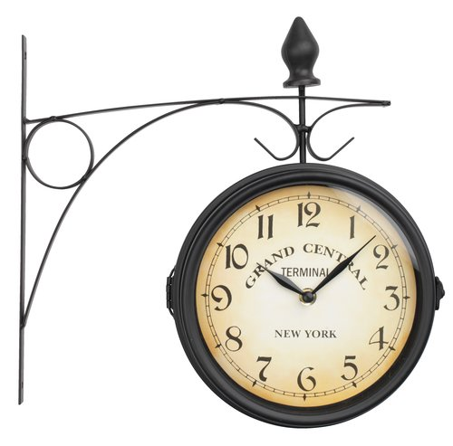 Railway station clock RUNAR D21cm black
